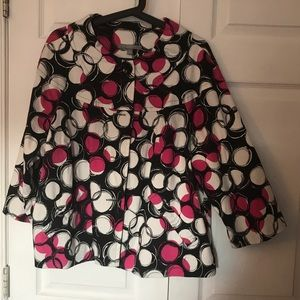 Mod pink black and white jacket